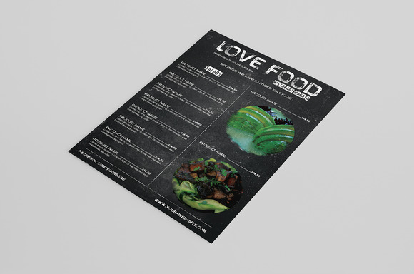 Stylish Food Menu Or Bar Card
