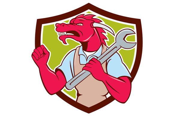Red Dragon Mechanic Spanner Fist Pum