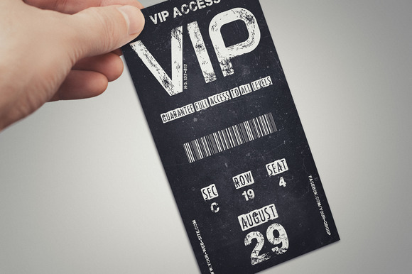 Vintage VIP PASS Card