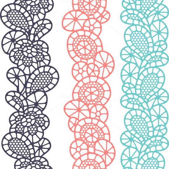 Vintage Fashion Lace Patterns