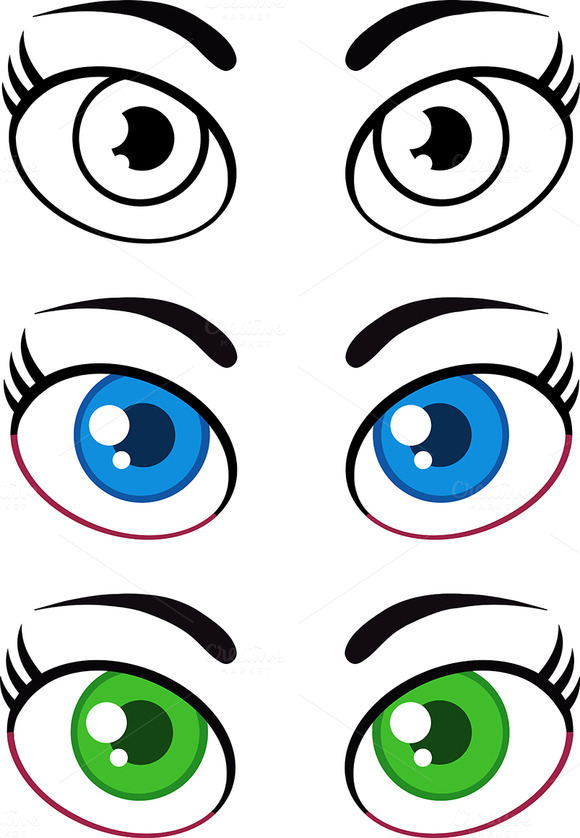 Women Cartoon Eyes Collection