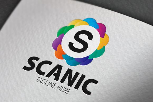 Scanic S Letter Logo