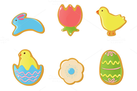 Vector Easter Cookies