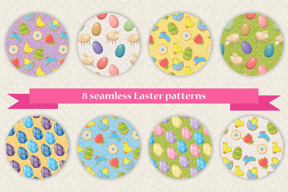 8 Seamless Easter Patterns