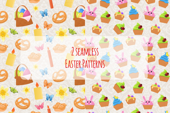 2 Seamless Easter Patterns