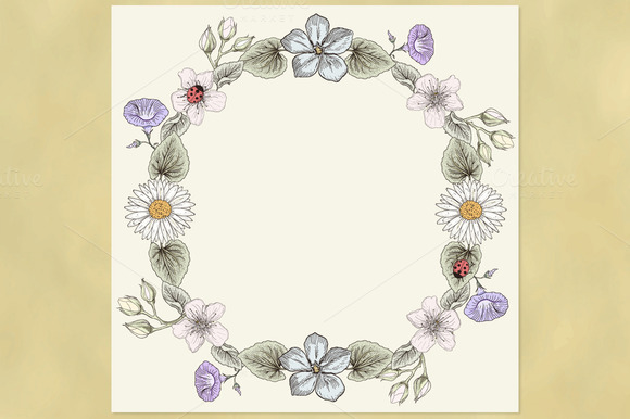 Floral Wreath Vintage Style