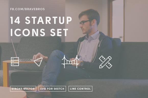 14 Startup Icons SF Server Design