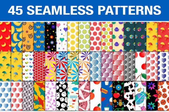 Set Of 45 Seamless Patterns