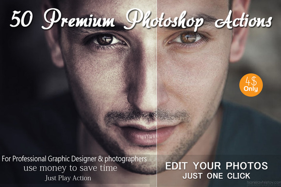 50 Premium Photoshop Actions