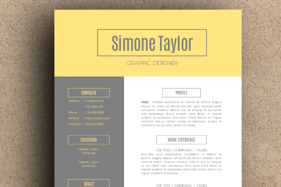 The Simone Resume Pack