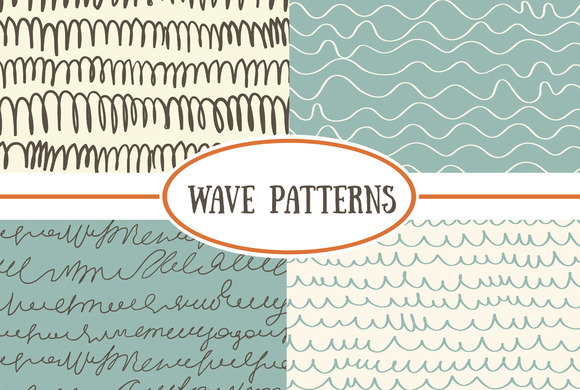 Set Of Seamless Wave Patterns