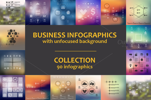 90 BUSINESS INFOGRAPHICS Collection