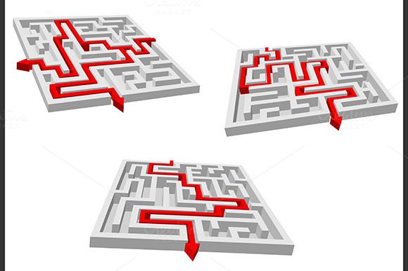 Gray Mazes Or Labyrinths