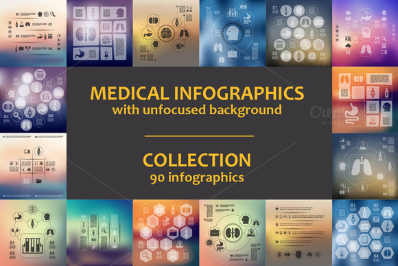 90 MEDICAL INFOGRAPHICS Collection