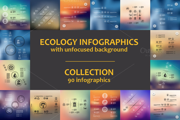 90 ECOLOGY INFOGRAPHICS Collection