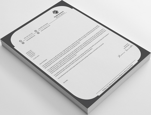 Clean Graph Business Letterhead