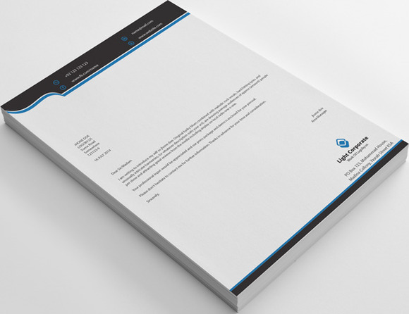 Corporate Clean Letterhead