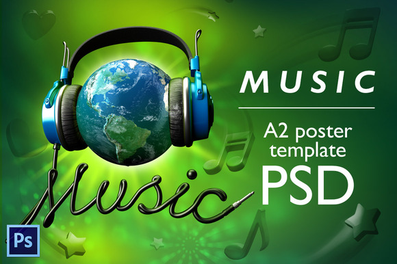World Music PSD Poster Template