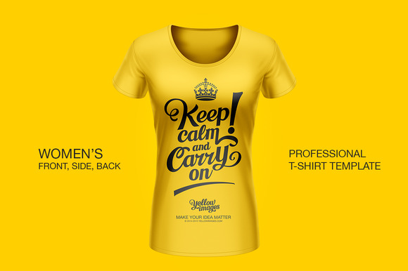 Professional Women T-Shirt Template