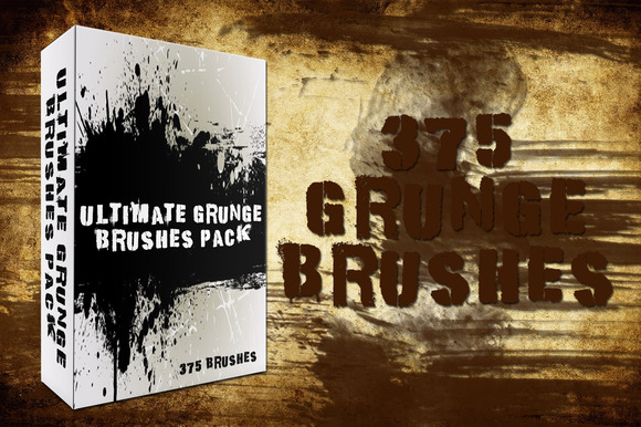 375 Grunge Brushes Pack