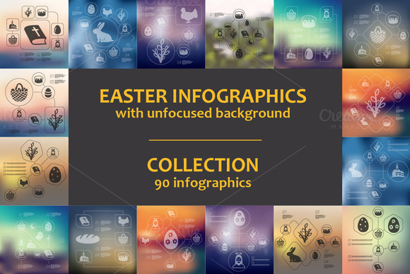 90 EASTER INFOGRAPHICS Collection