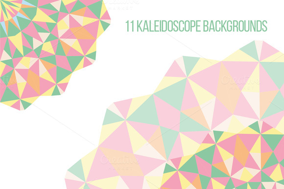 11 Circular Polygonal Backgrounds