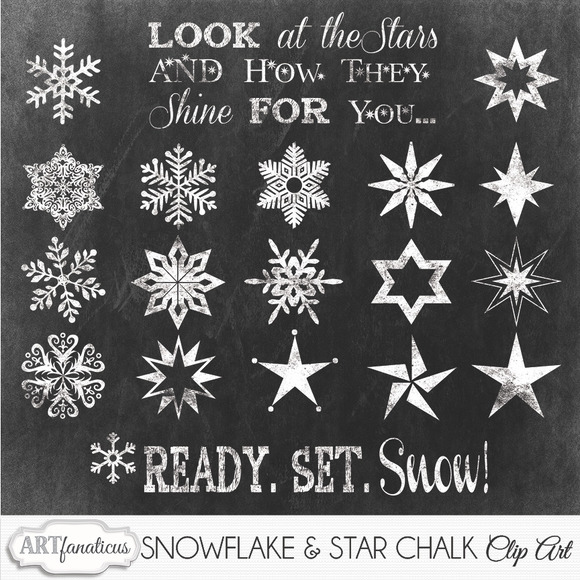 SNOWFLAKE STARS CLIPART