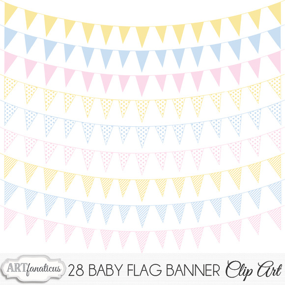 BABY FLAG BANNER CLIPART