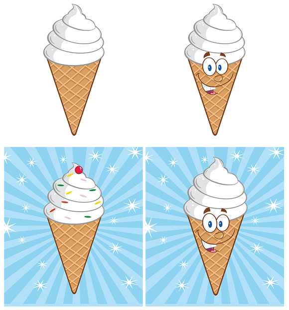 Ice Cream Mascot Collection