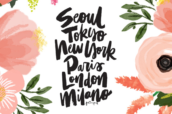 Big Cities Handlettering Calligraphy