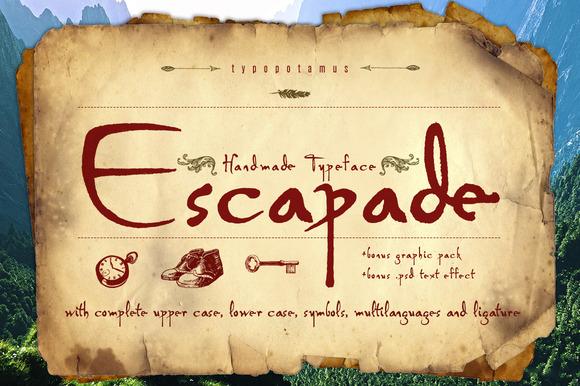 Escapade Typeface Bonus