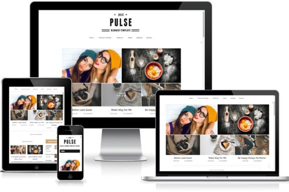 Pulse ResponsiveBlogger Template