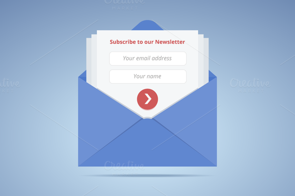 Blue Envelope With Subscription Form