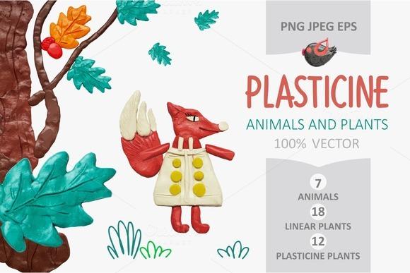 PLASTICINE Animals And Plants