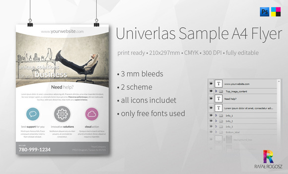 Univerlas Sample A4 Flyer