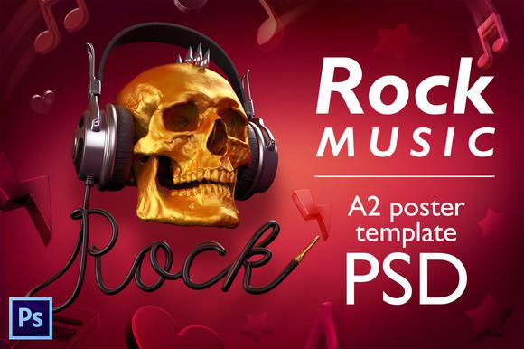 Rock Music PSD Poster Template