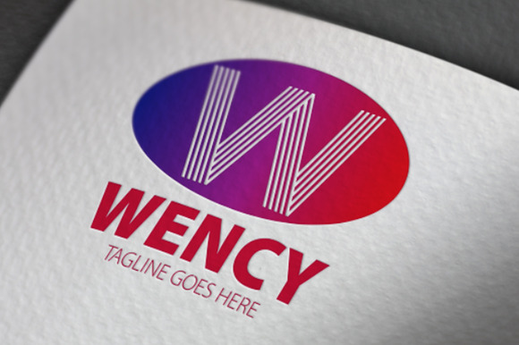 Wency W Letter Logo