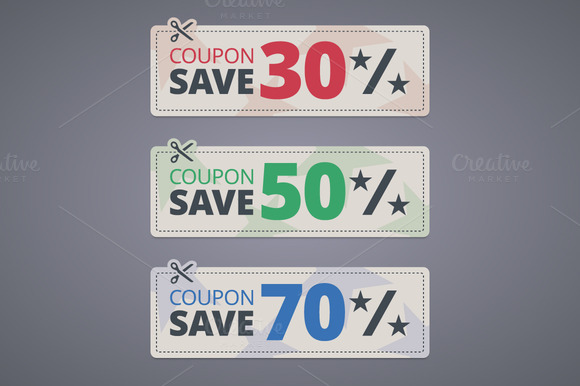 Scissors Cutting Coupons