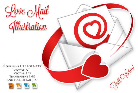 Love Mail Illustration