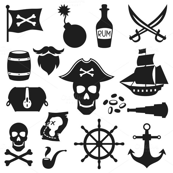 Objects On Pirate Theme