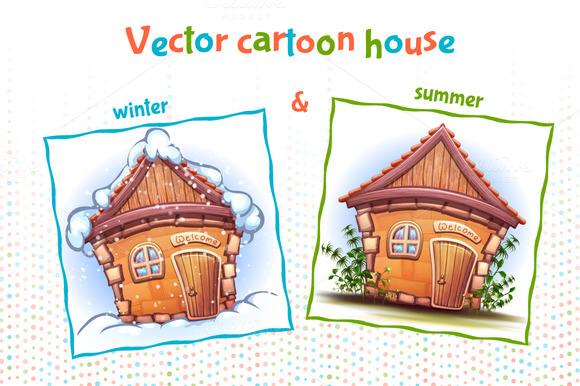 Vector Cartoon House