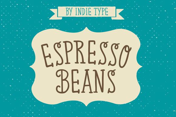 Espresso Beans Typeface