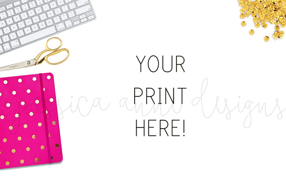 Pink Gold Desktop Styled Stock I