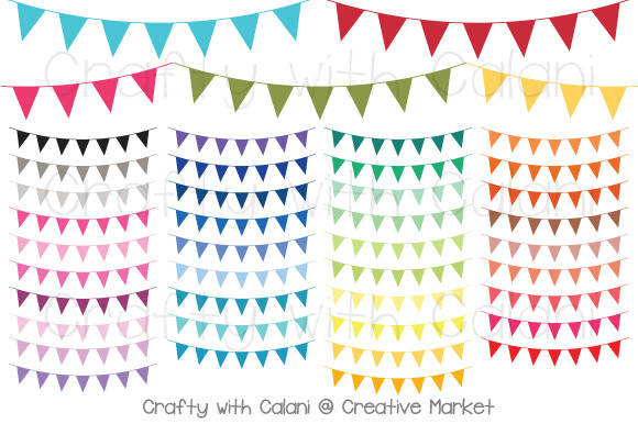Triangle Pennant Bunting In 38Colors