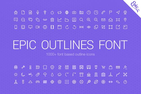 1000 Epic Outlines Font