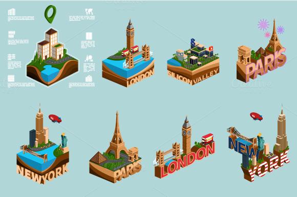 Isometric Metropolis And Best Cities