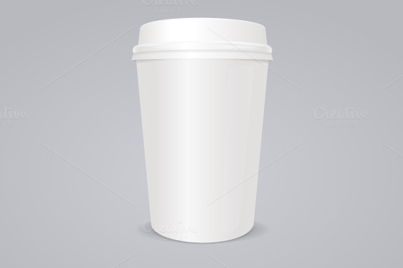 Vector Empty Coffee Paper Cup
