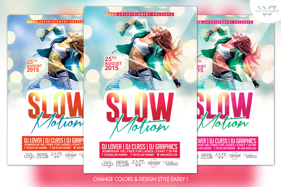 Slow Motion Flyer Template
