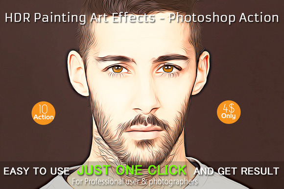 HDR Painting Art Effects Photoshop