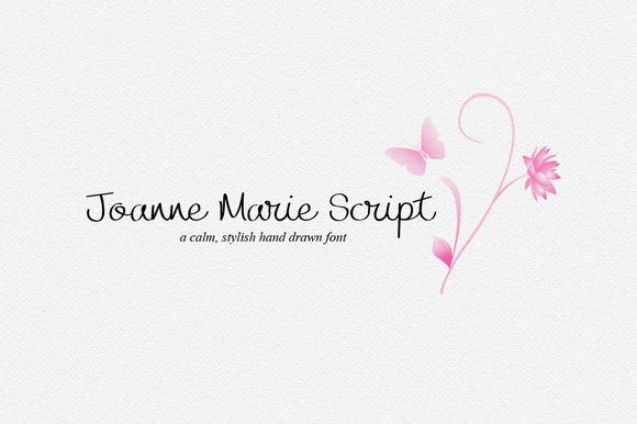 Joanne Marie Script Font Logo